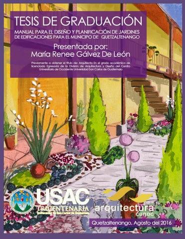 Tesis manual para el dise o y planificaciones de jardines for Diseno de interiores un manual pdf
