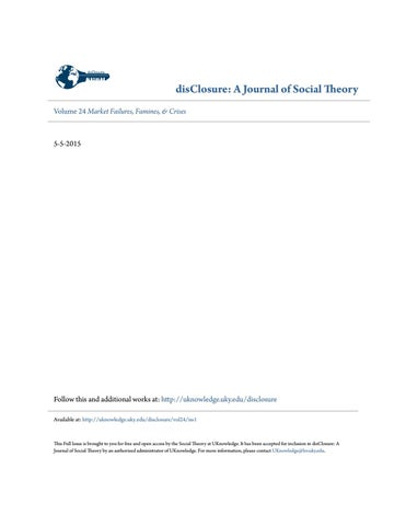 disClosure: A Journal of Social Theory, Vol  24: Market Failures