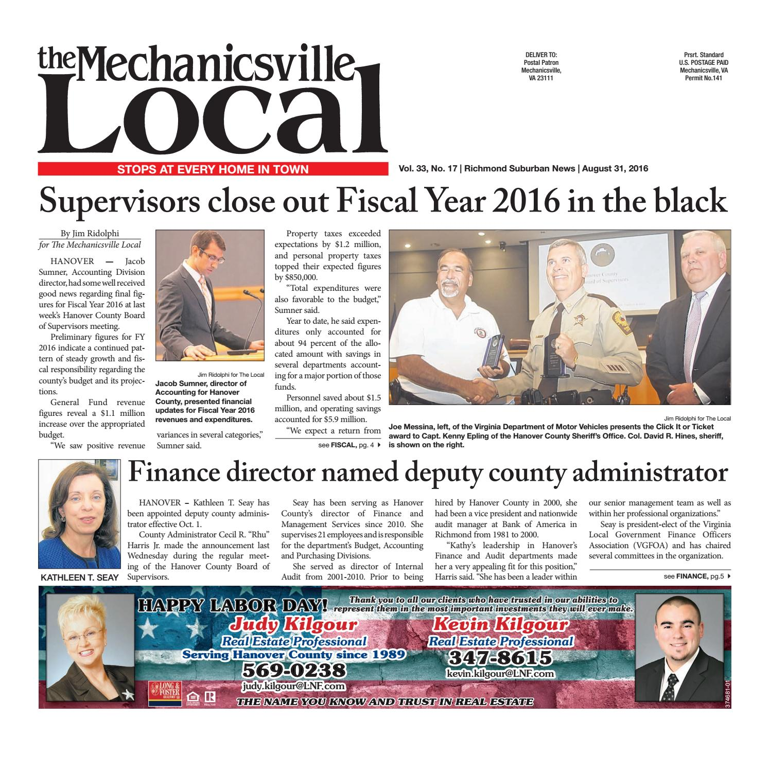 08/31/16 by The Mechanicsville Local - issuu
