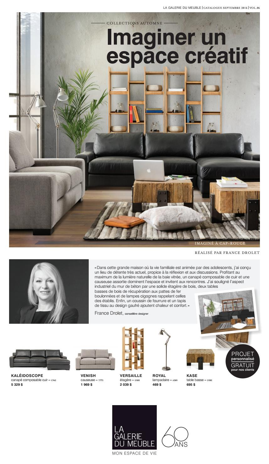 la galerie du meuble catalogue vol 6 by la galerie du meuble issuu. Black Bedroom Furniture Sets. Home Design Ideas