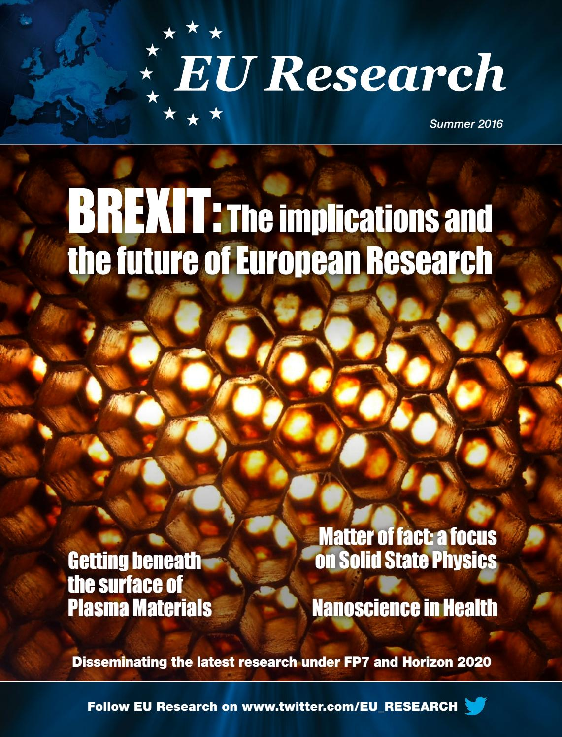 EU Research SummerAutumn 2016 by Blazon Publishing and
