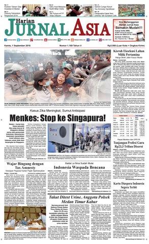 Harian Jurnal Asia Edisi Kamis, 01 September 2016
