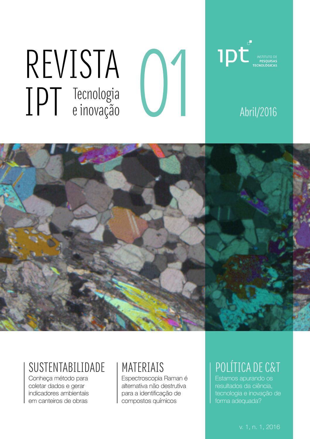 eb675f7be3f61 Revista IPT   Tecnologia e inovação  01 by IPT Instituto de Pesquisas  Tecnológicas - issuu