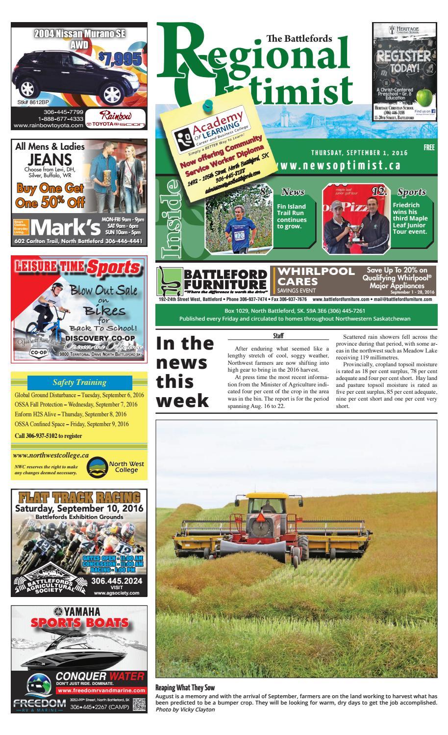 1408bdc4 Regional Optimist September 1 by Battlefords News Optimist - issuu