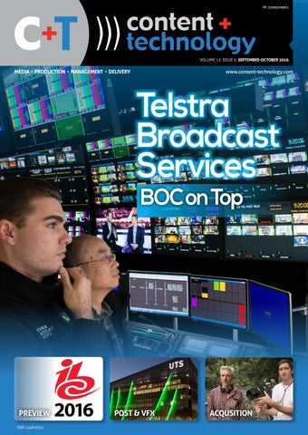 Content+Technology ANZ September October 2016 by Broadcastpapers Pty
