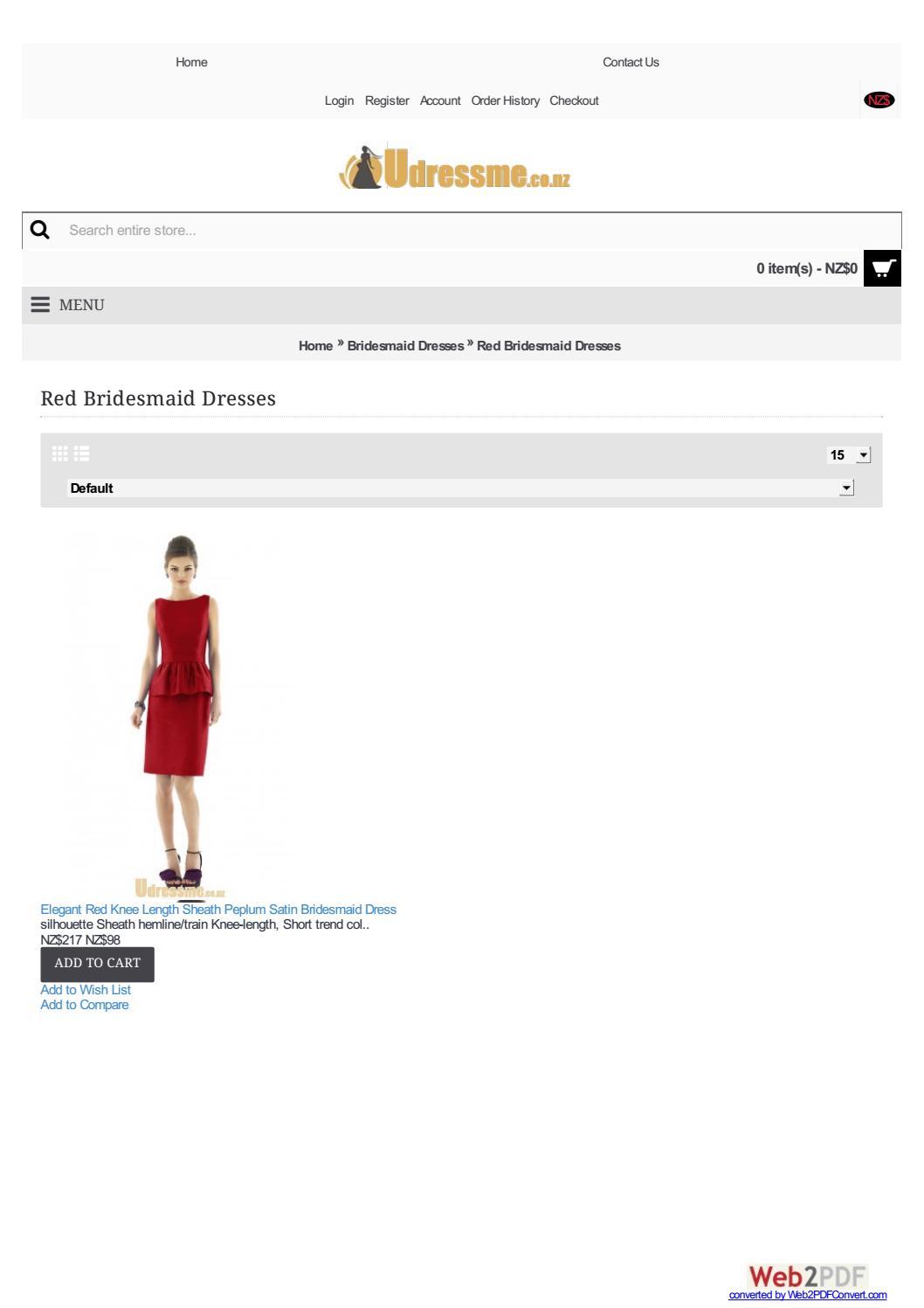 Red bridesmaid dresses nz by Alexadavis - issuu