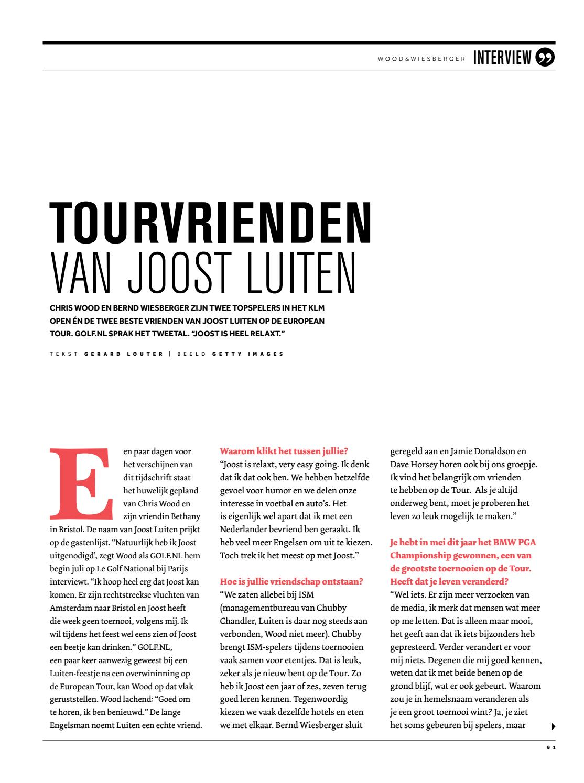 Magazine Golfnl Nr 14 2016 By Koninklijke Nederlandse Golf