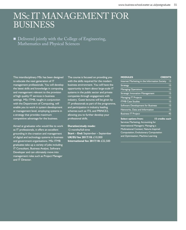 Business School Postgraduate Prospectus 2017