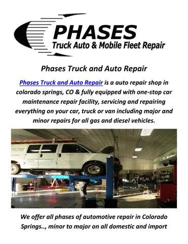 Car Dealerships Colorado Springs >> Diesel Truck Repair In Colorado Springs Co By Phases Truck