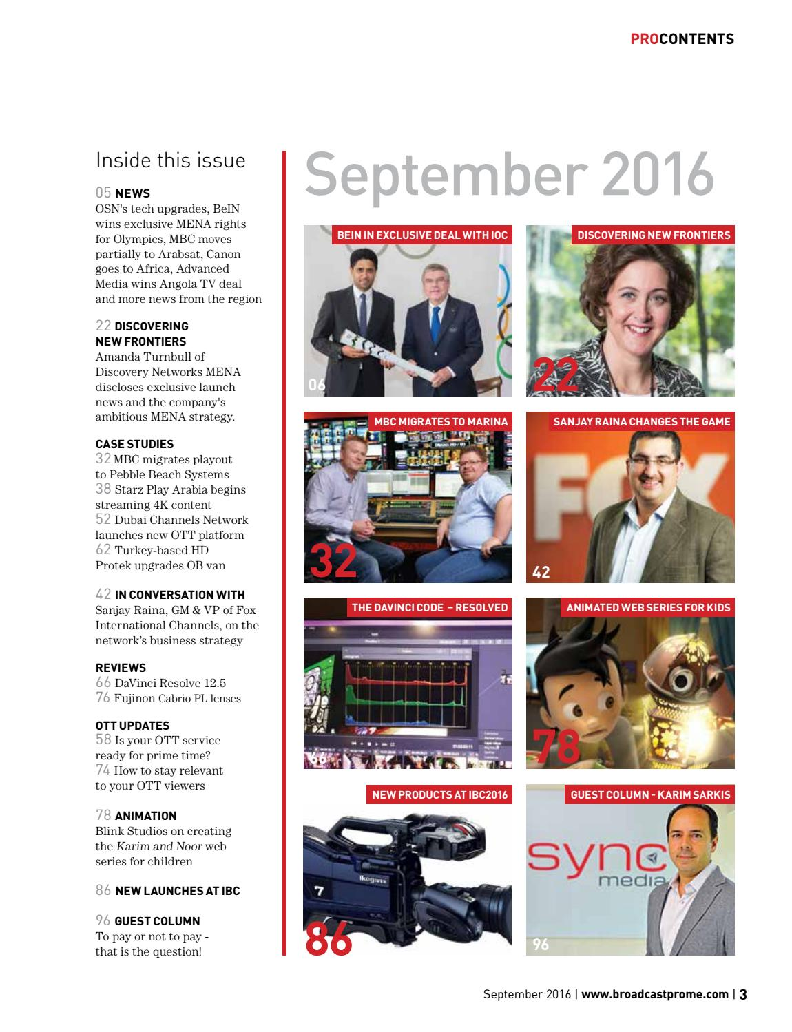 BroadcastPro ME September 2016 by BroadcastPro ME - issuu