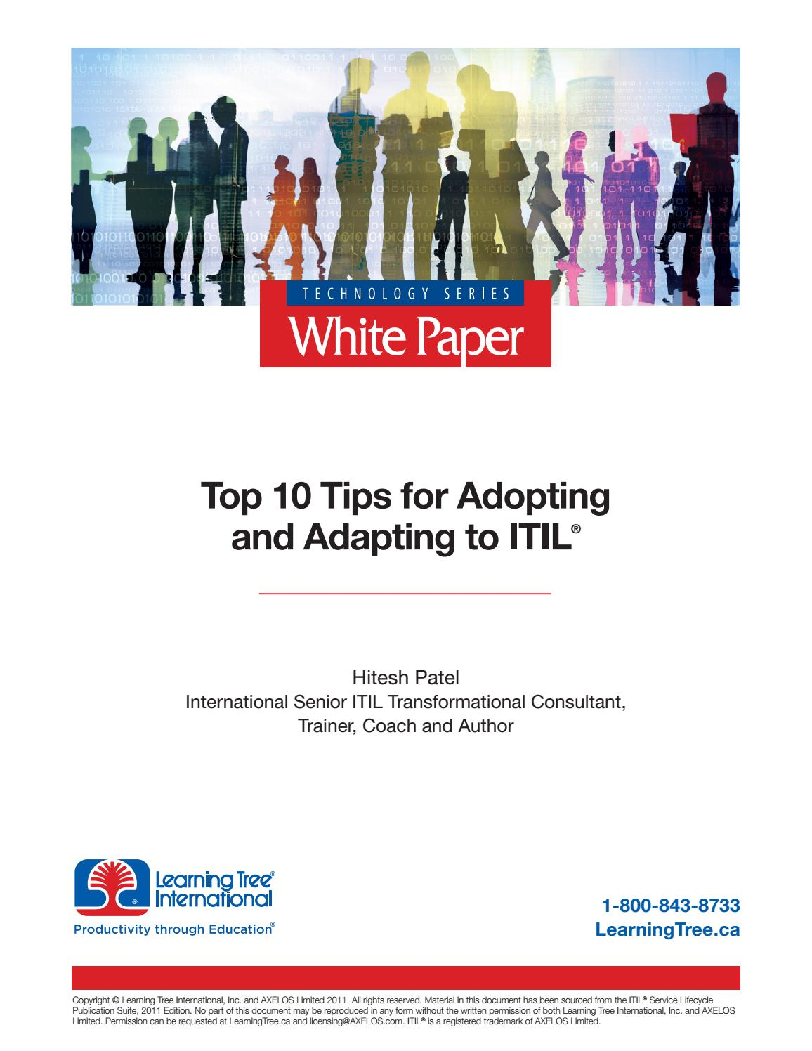Top 10 tips for adopting and adapting to itil ca edition by top 10 tips for adopting and adapting to itil ca edition by learningtree international issuu 1betcityfo Images