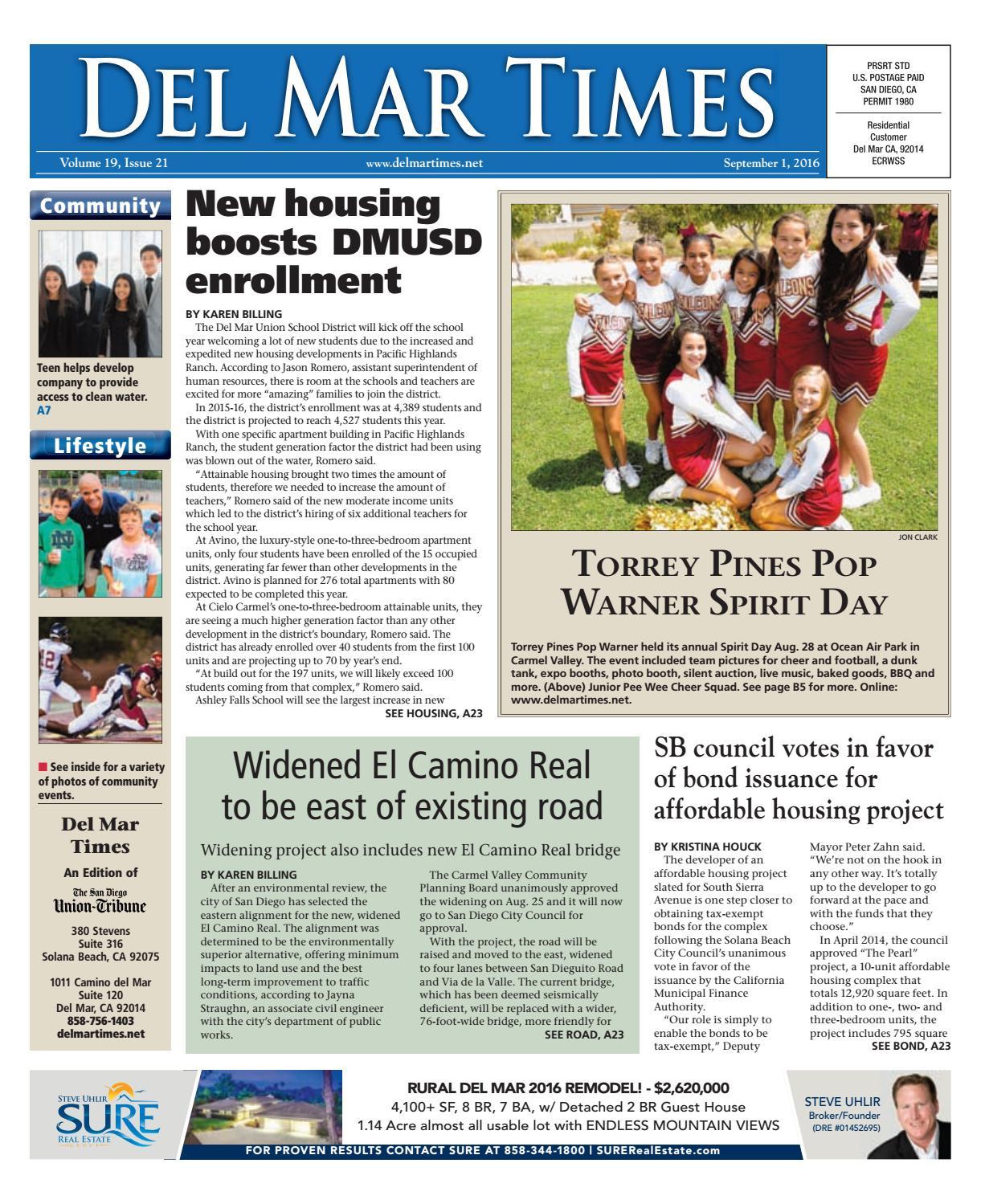 Del Mar Times 09 01 16 By MainStreet Media