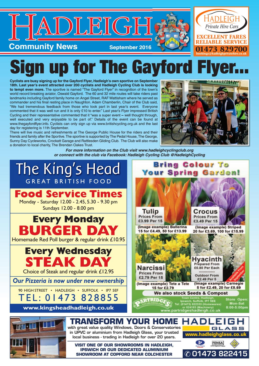 Hadleigh Community News, September 2016 by Keith Avis Printers - issuu