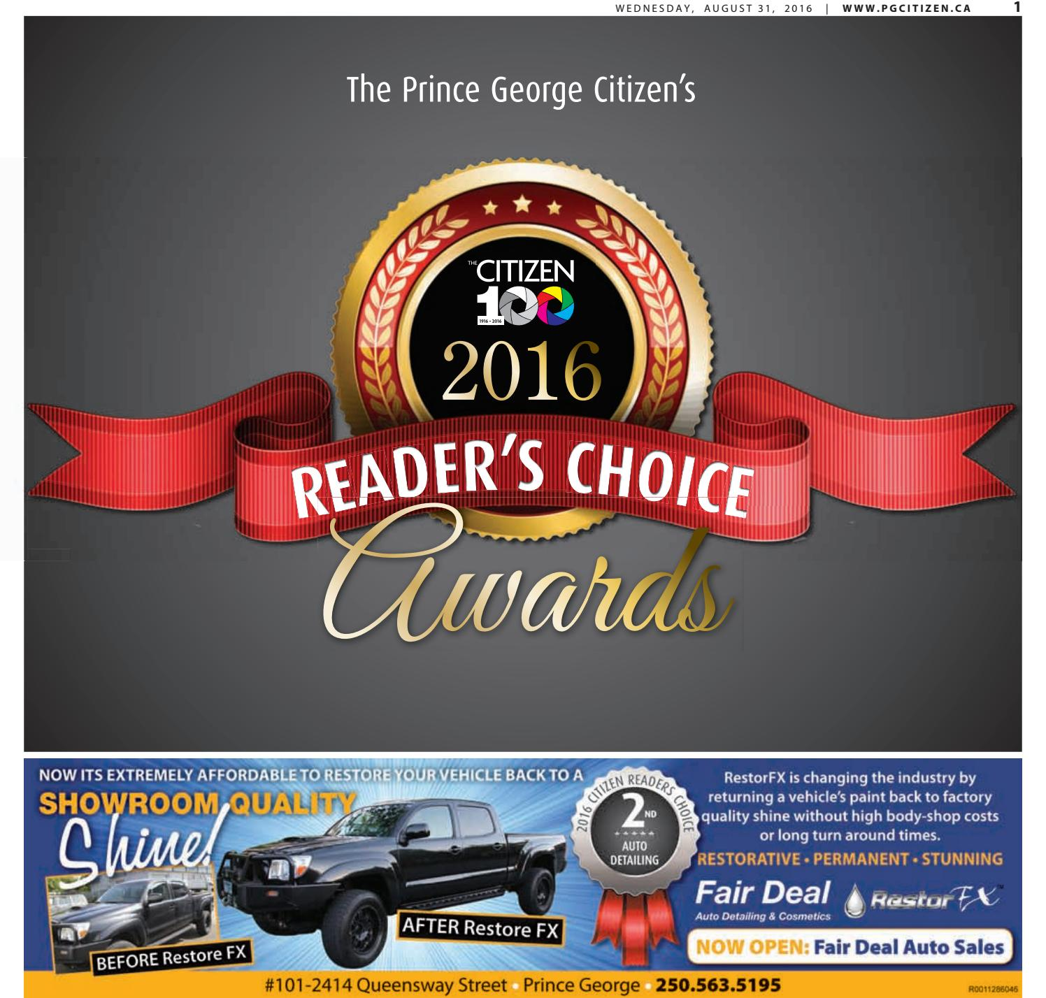 Prince George Citizen Readers Choice 2016 by Prince George Citizen