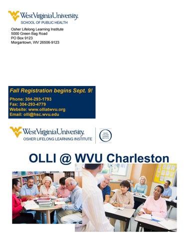 Olli At Wvu Charleston Fall 2016 Catalog By Olli At Wvu Issuu
