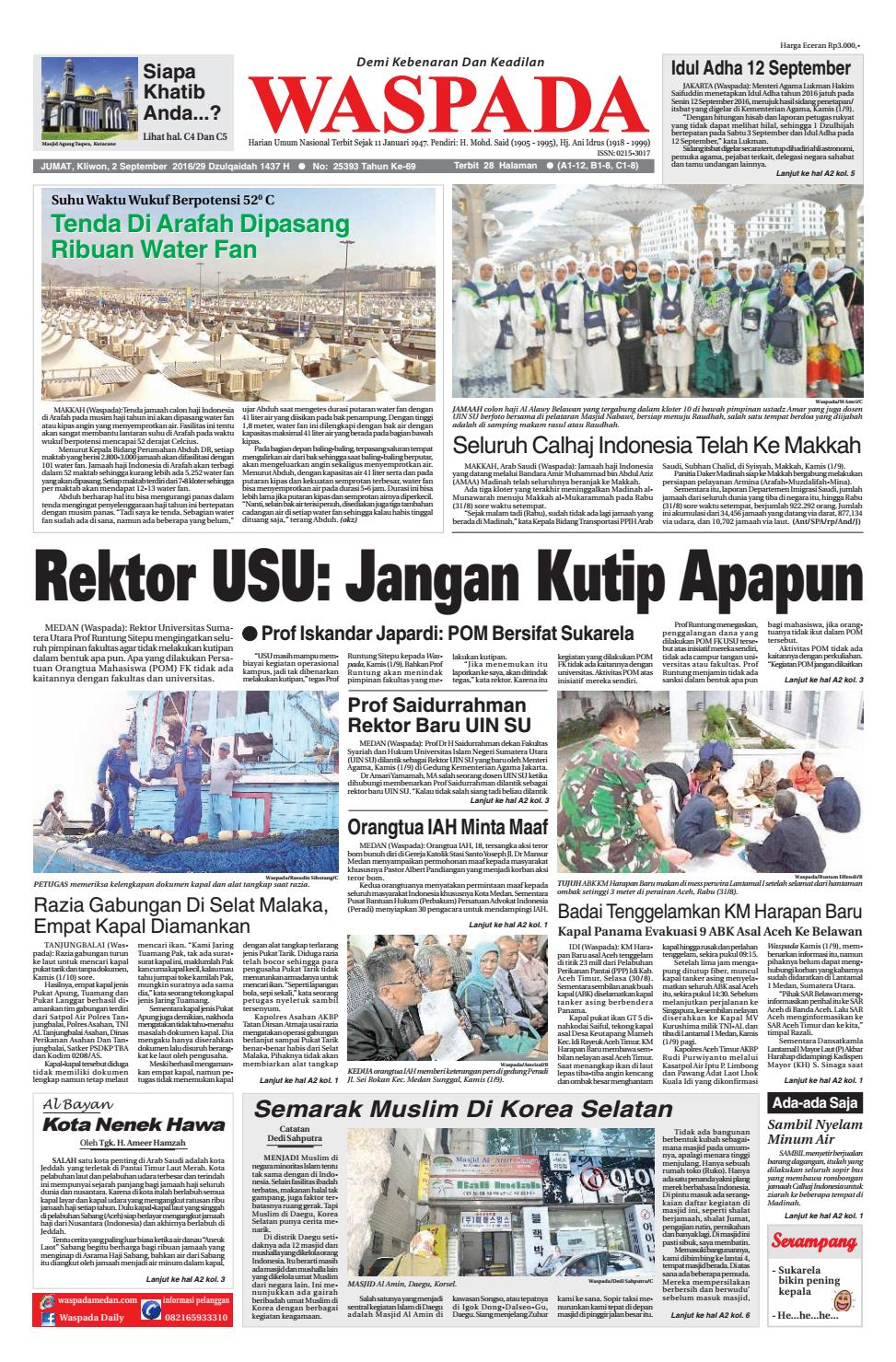 Copy Of Jumat 2 September 2016 By Harian Waspada Issuu