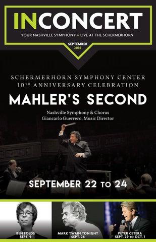 September 2016 Inconcert By Nashville Symphony Issuu