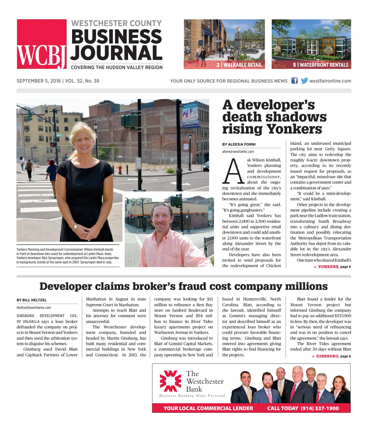 Westchester County Business Journal 090516 by Wag Magazine - issuu