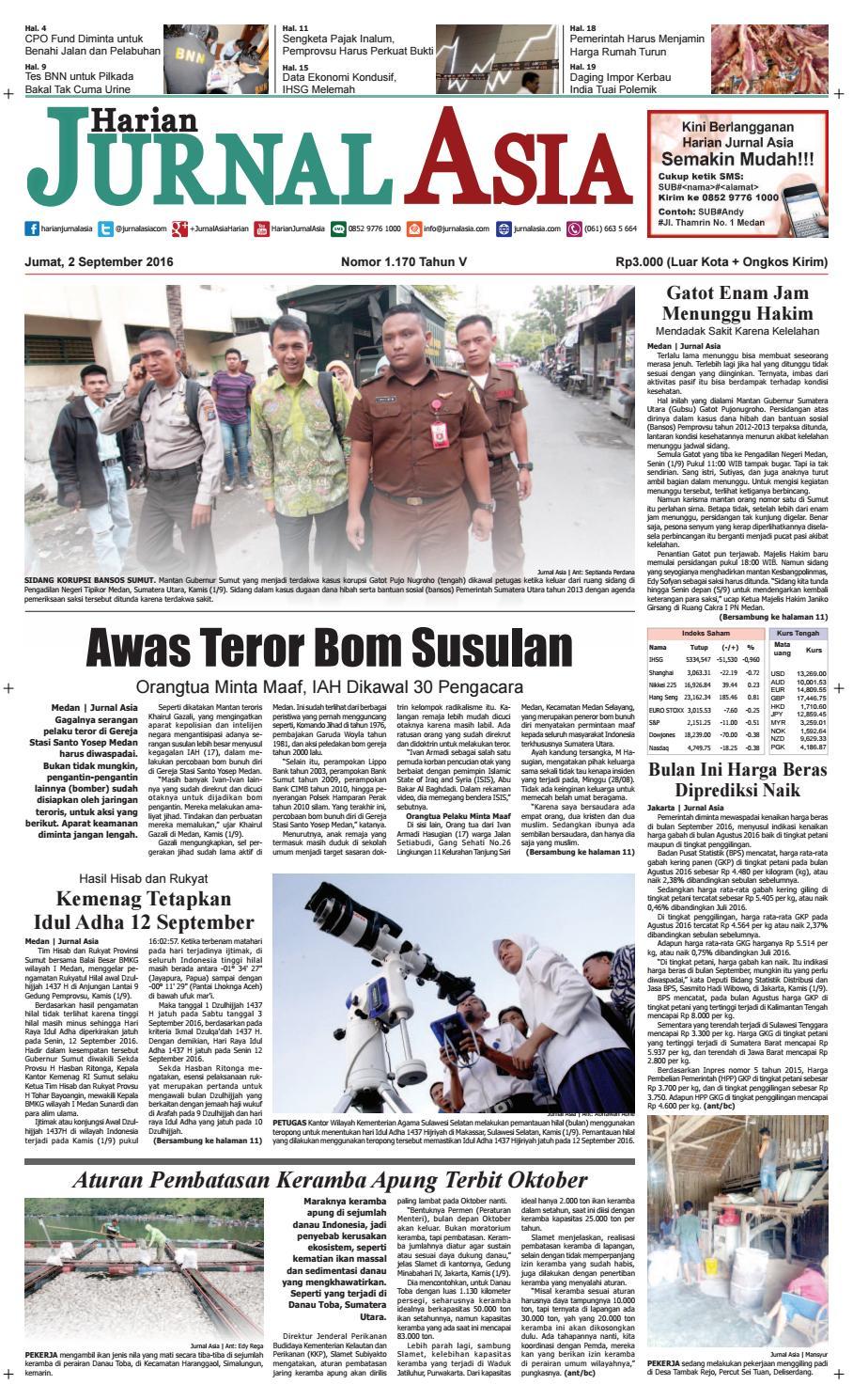 Harian Jurnal Asia Edisi Jumat 02 September 2016 By Kopi Bubuk Ridha Utama Smg Medan Issuu