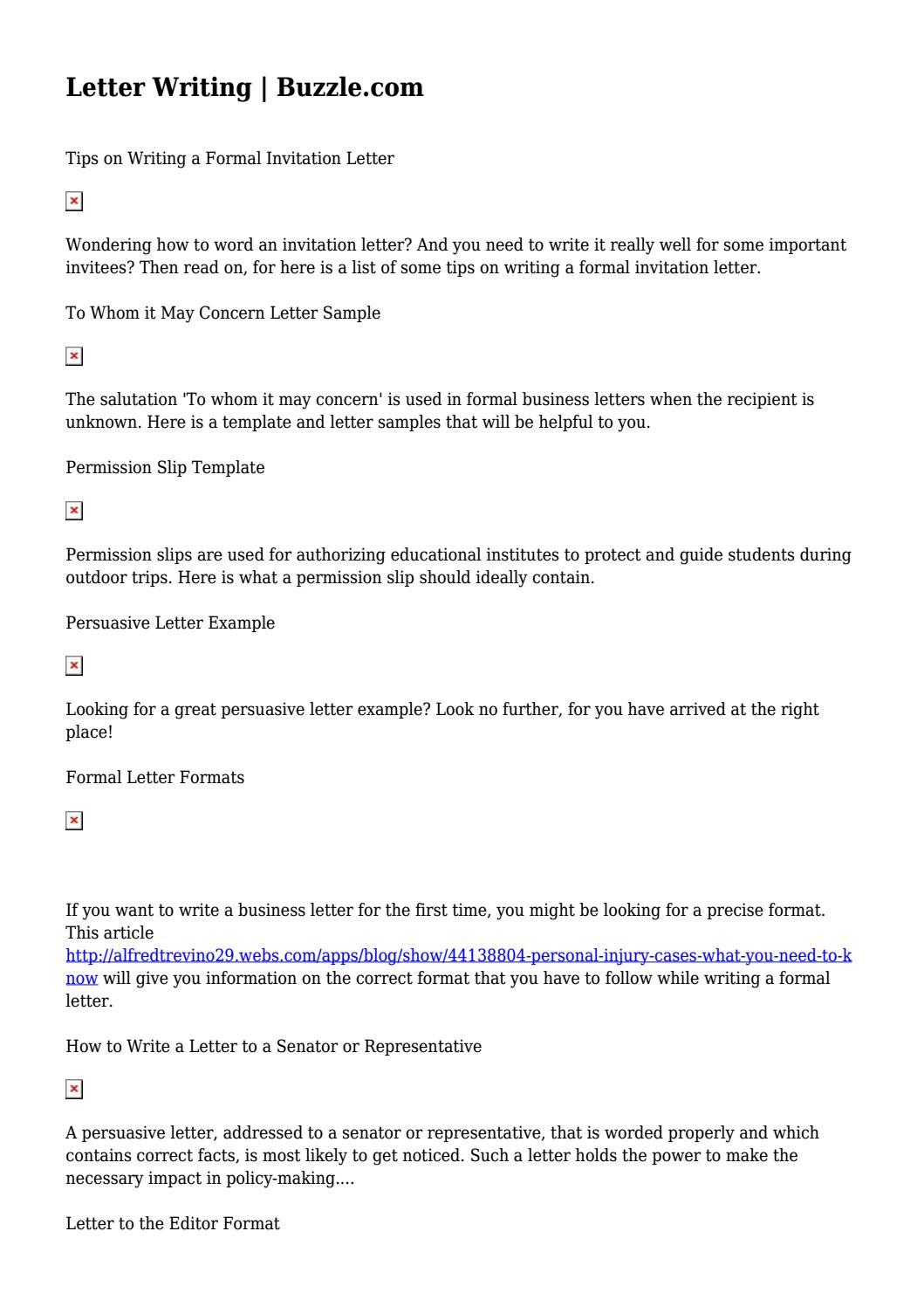 Letter Writing Buzzle Com By Gutierrezdnowsquzkx Issuu