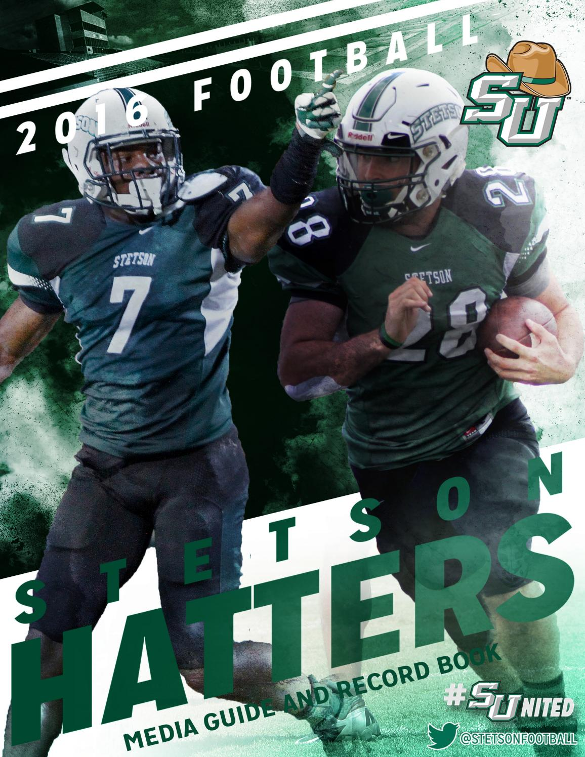 2016 Stetson Football Guide by Stetson University Athletics - issuu 8a79b2e77