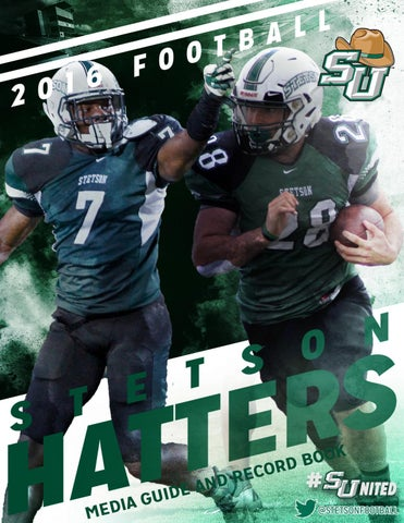 2016 Stetson Football Guide by Stetson University Athletics issuu  free shipping