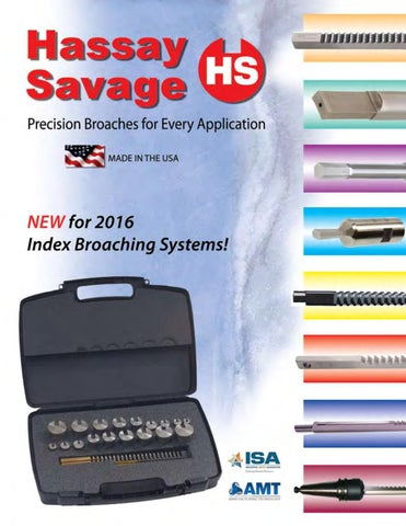 Hassay Savage 12024 HSS Hexagon Push Broaches
