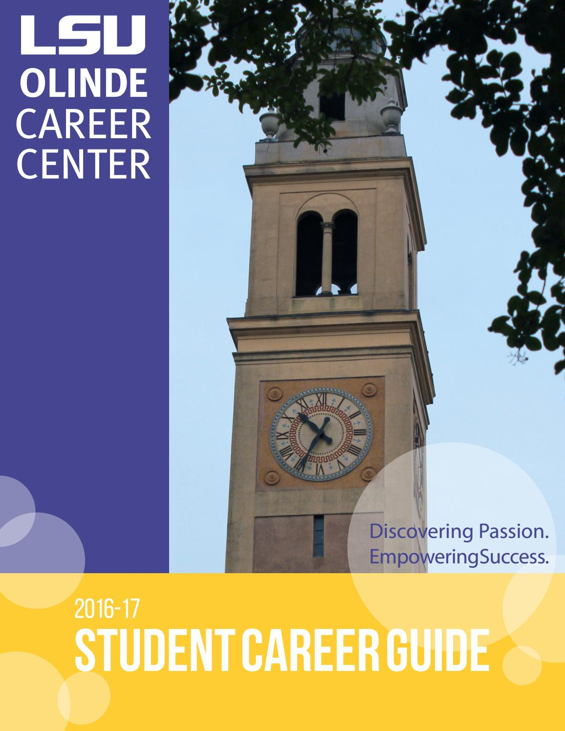 2016 LSU Student Career Guide by LSU Division of Student ...