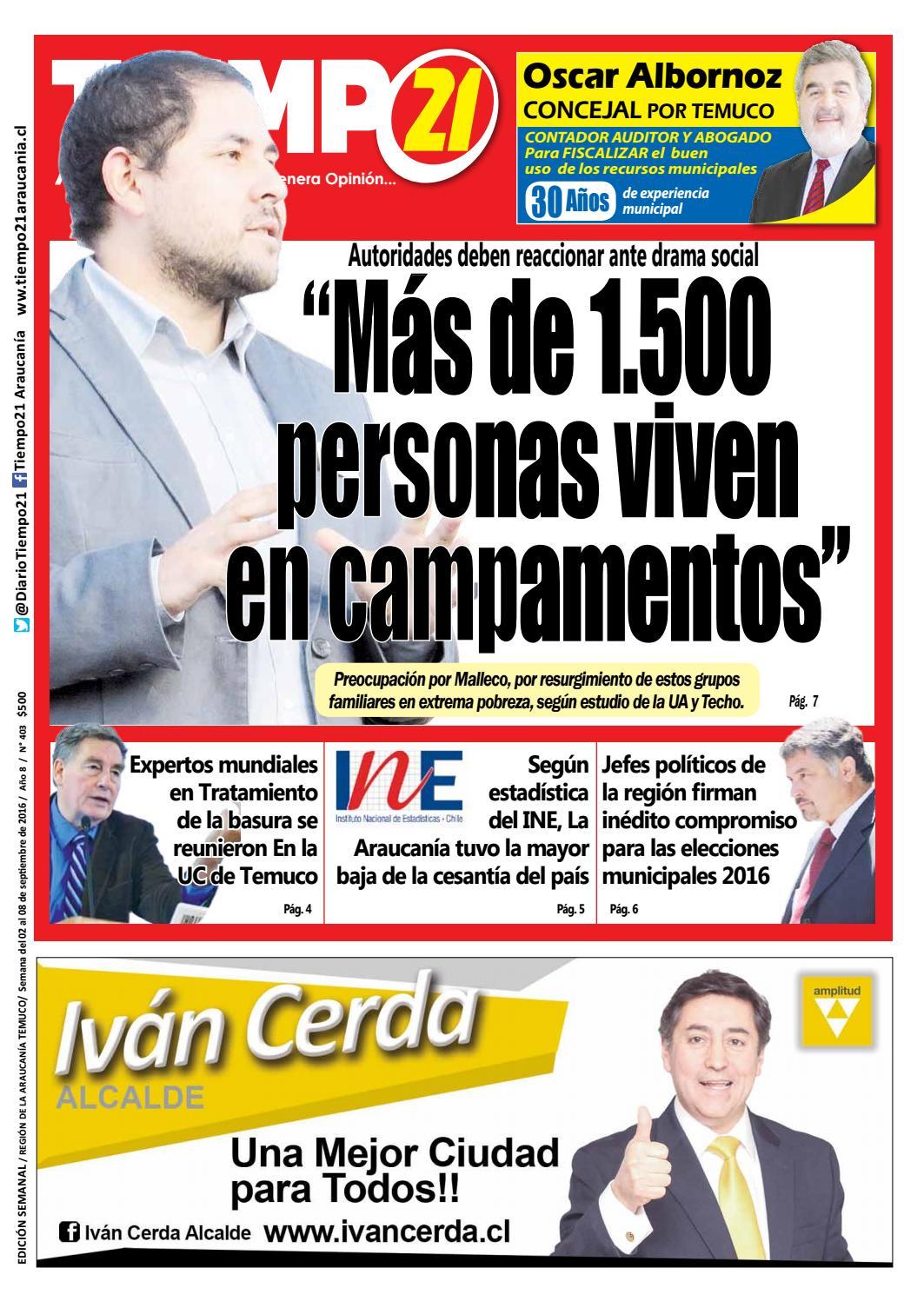 Edici N 403 Autoridades Deben Reaccionar Mas De 1 500 Personas  # Muebles Jouannet Temuco