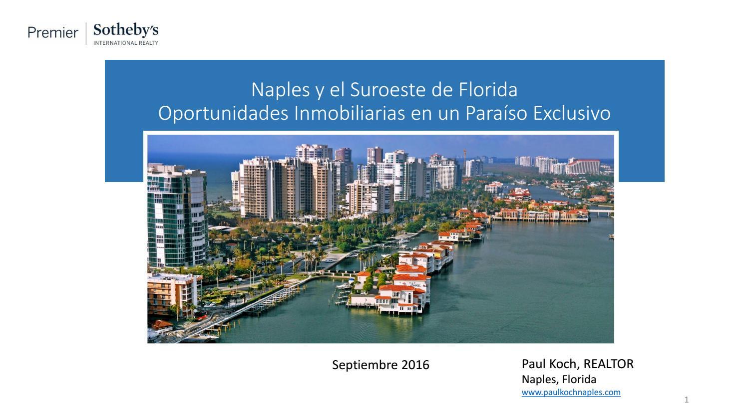 Naples, Florida - Presentacion del Mercado Inmobiliario - Septiembre ...