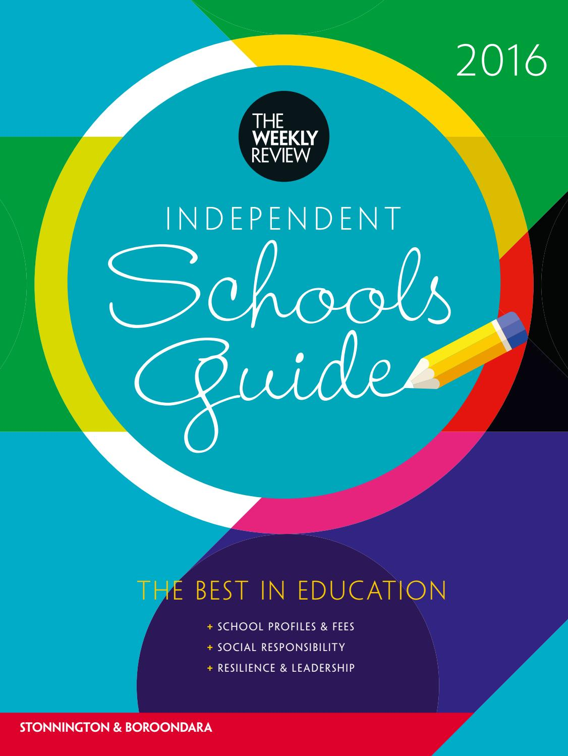 Independent Schools Guide 2016: Stonnington & Boroondara by The ...