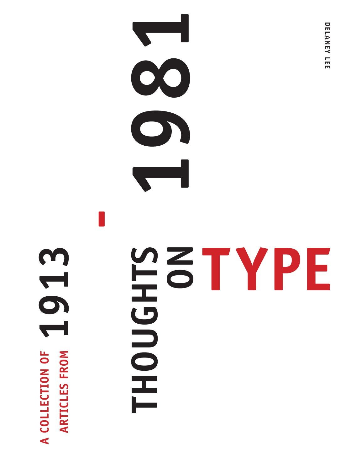 A collection of articles on type 1913 1981 by delaneylee issuu biocorpaavc Choice Image