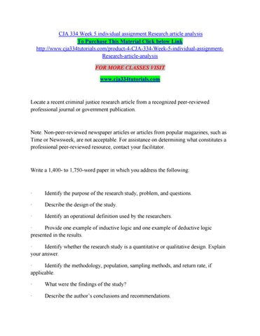 research article analysis example