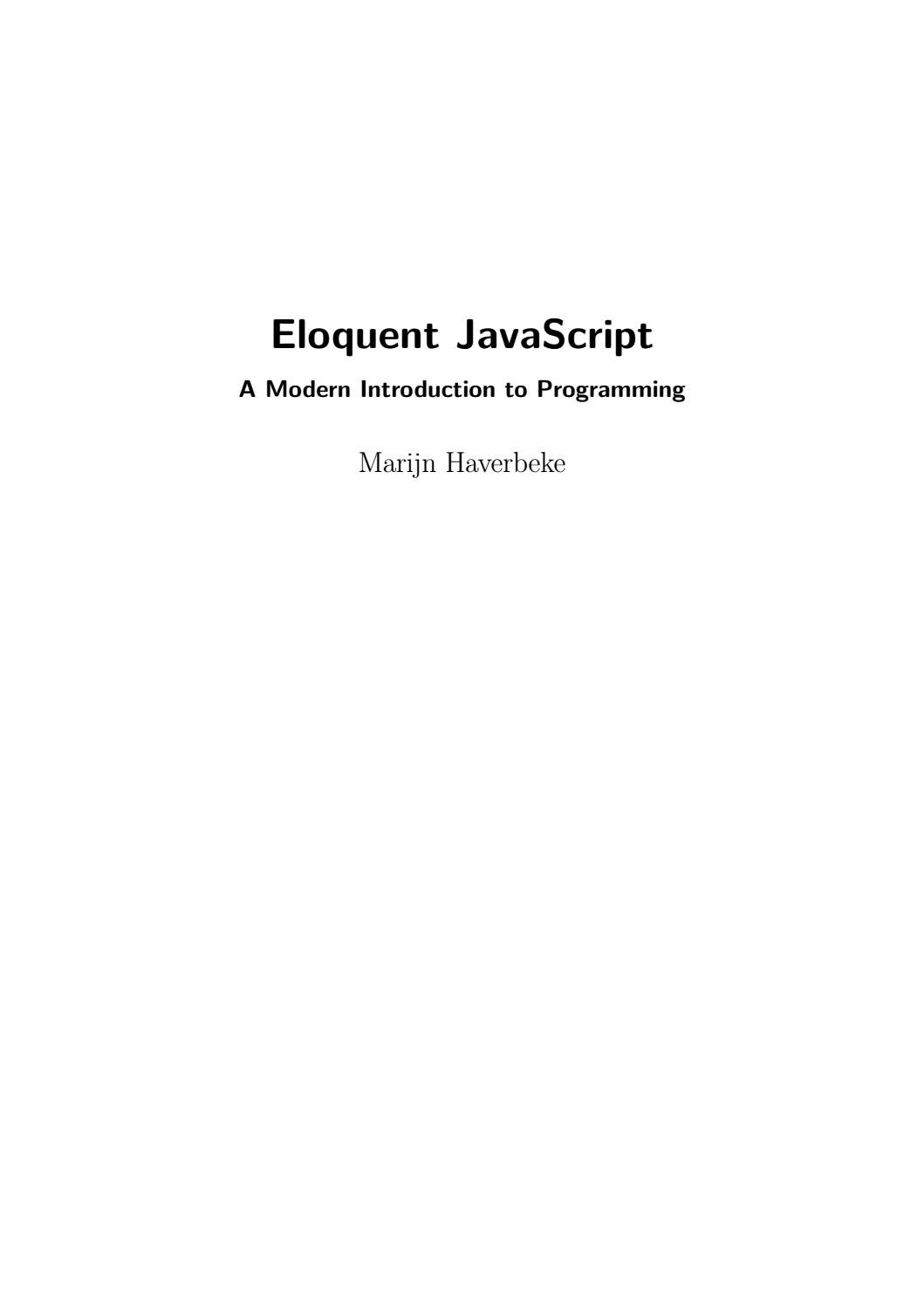 Eloquent javascript by Jorge Sacadura - issuu