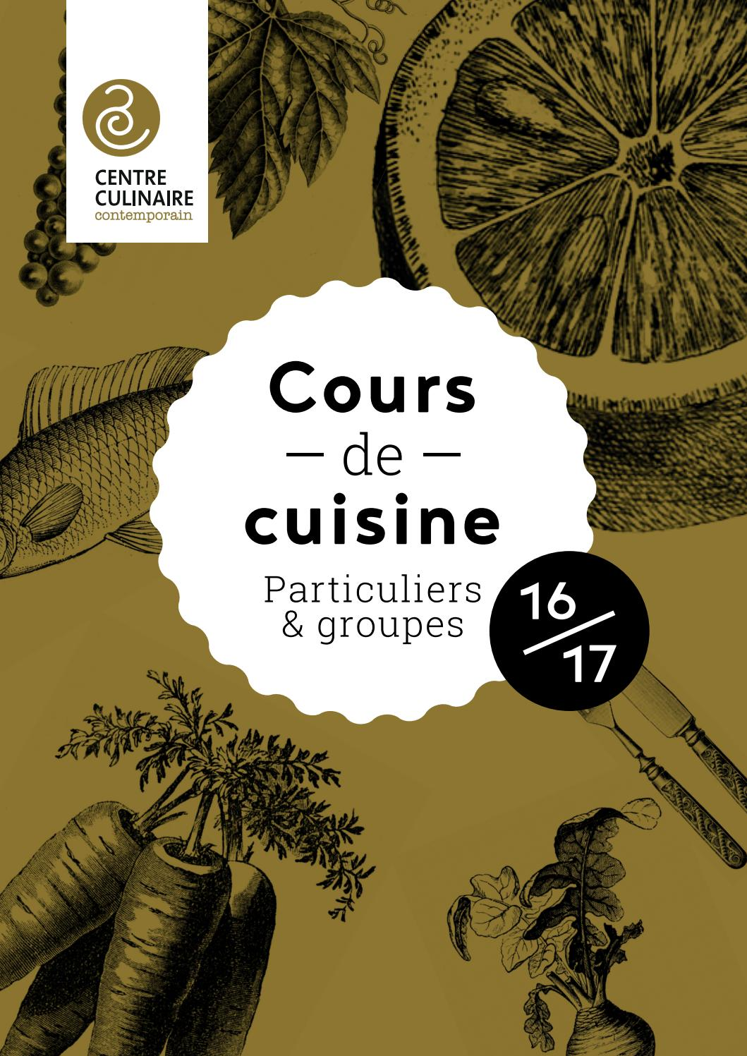 Cours de cuisine programme 2016 2017 by centre culinaire - Cours de cuisine particulier ...