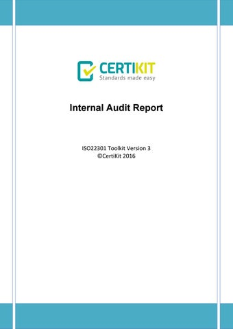 Bcms Doc   Internal Audit Report By Certikit  Issuu