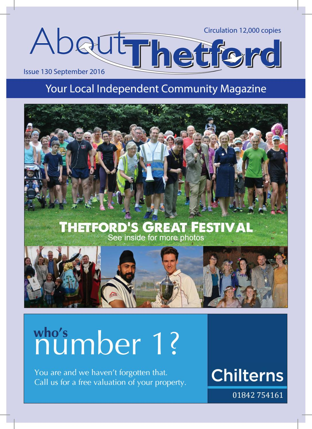 september 2016 about thetford magazine by terry jermy - issuu