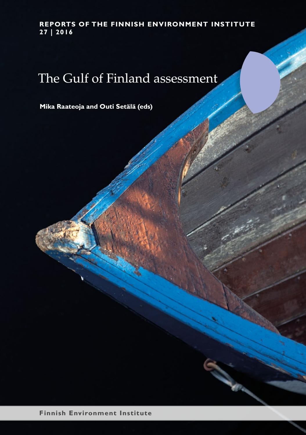The Gulf Of Finland Assessment By Suomen Ympristkeskus Finnish Rain Sound Effect Generator 4060 Environment Institute Finlands Miljcentral Issuu