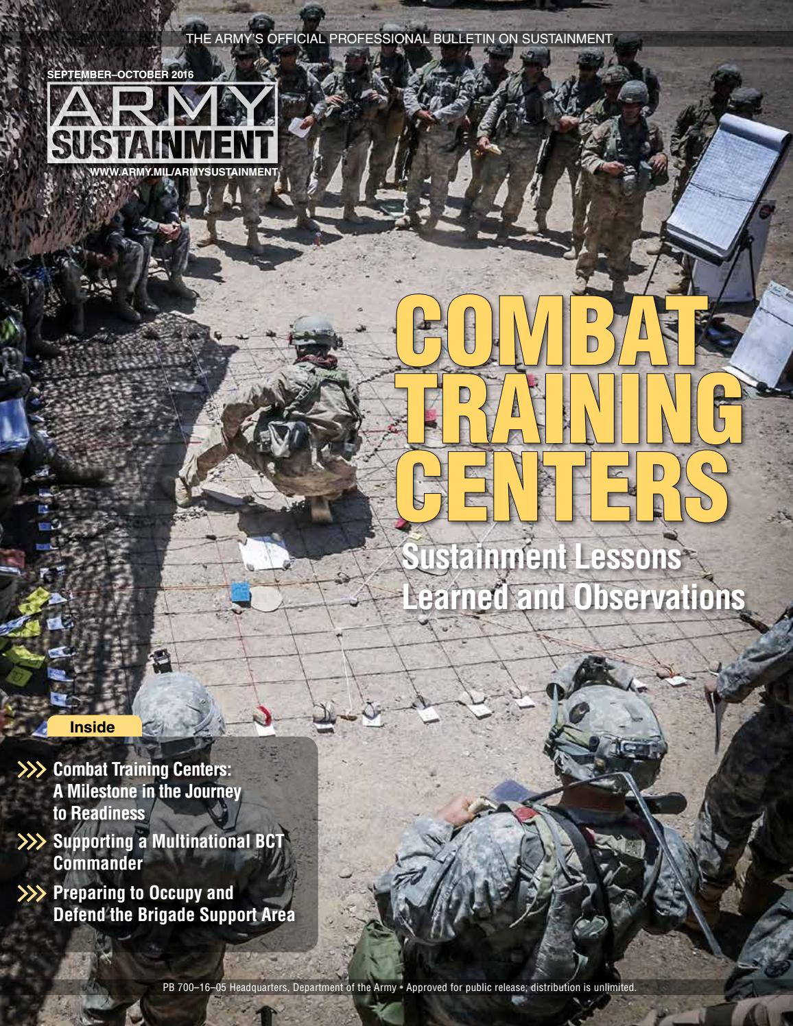 Army Sustainment September-October 2016