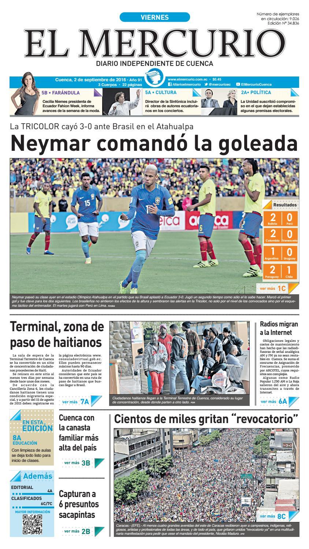 hemeroteca 02-09-2016 by Diario El Mercurio Cuenca - issuu e0d8f065de671