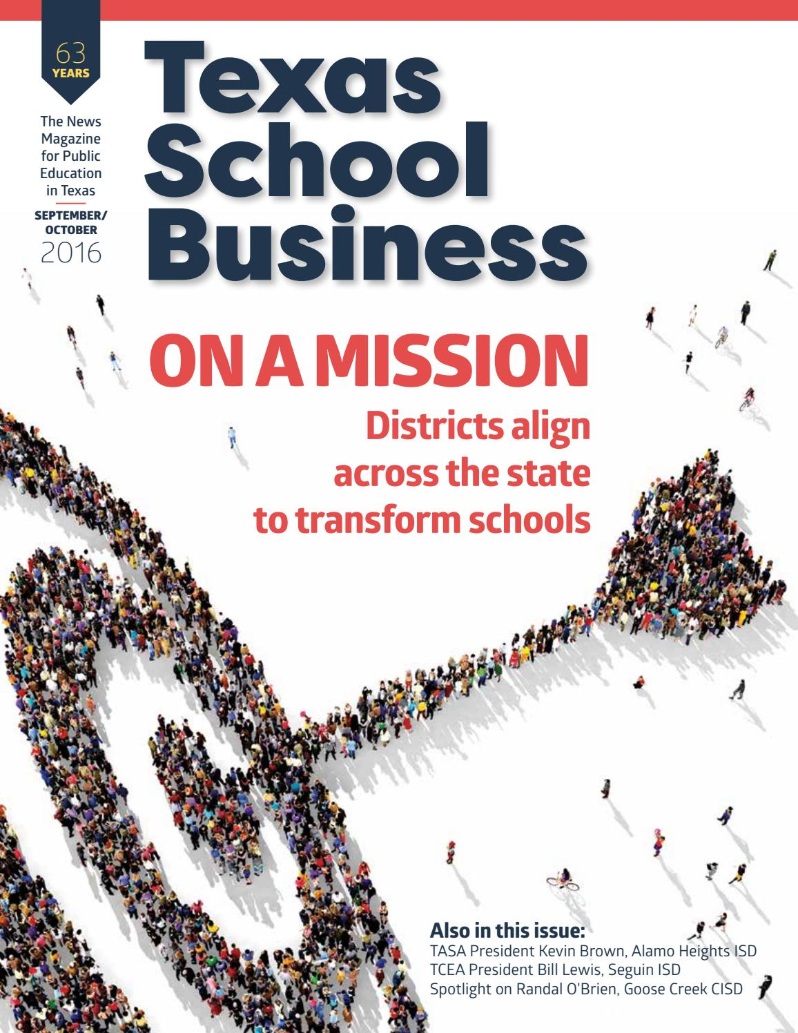 Tsb September October 2016 By Texas Association Of School Administrators Issuu