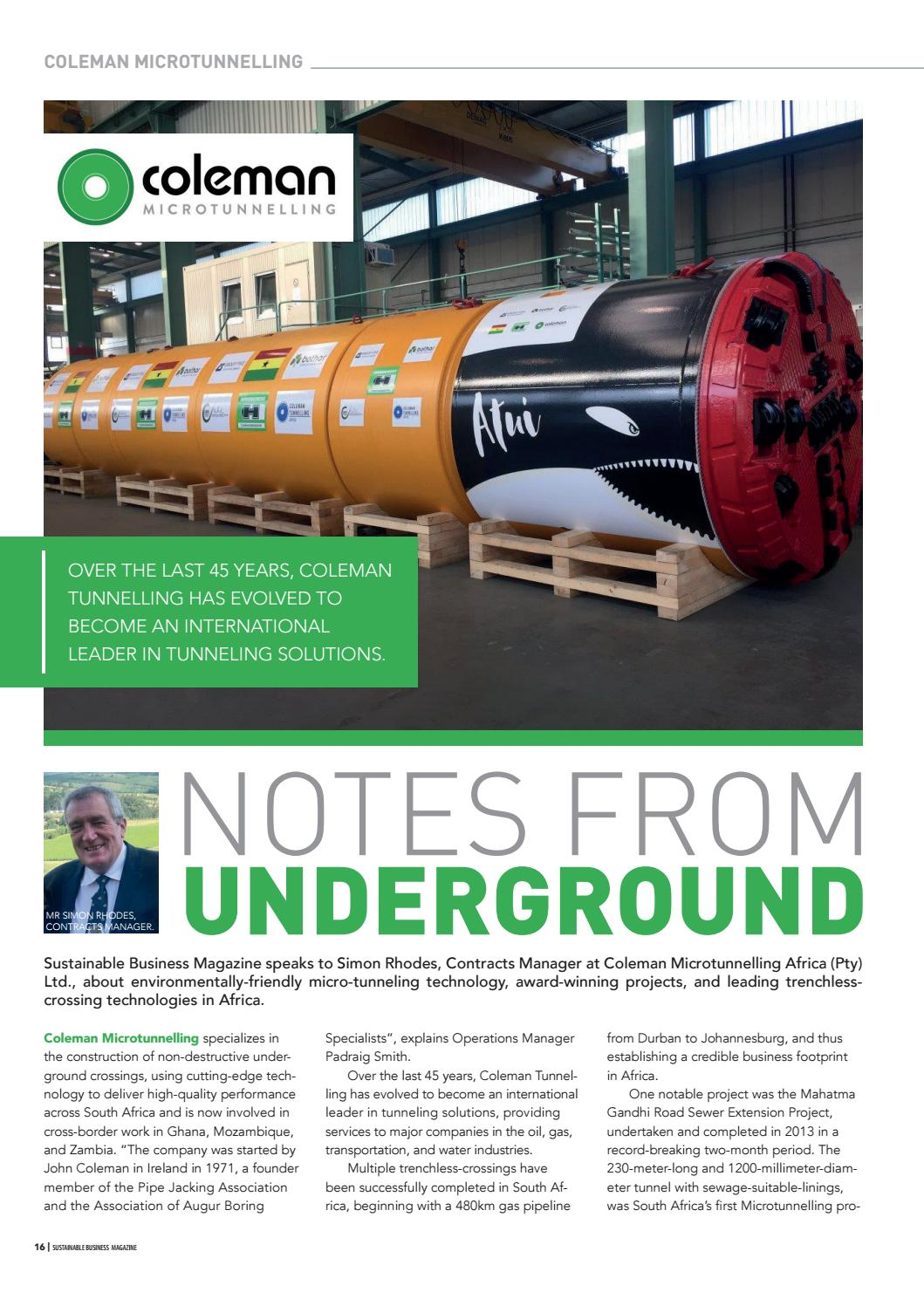 Sustainable Business Magazine EMEA 01/16 by Sustainable Business