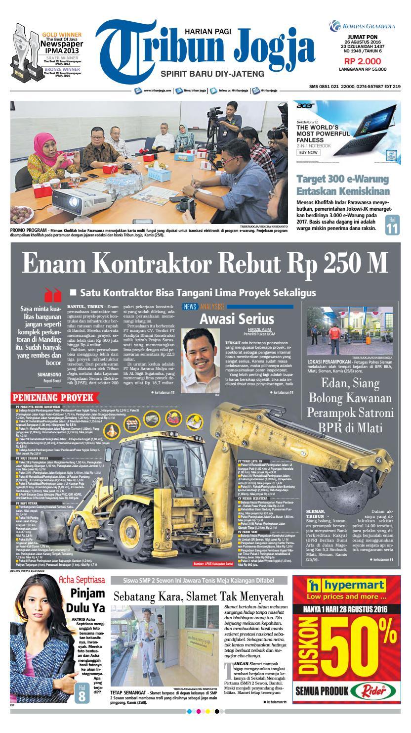Tribunjogja 26 08 2016 By Tribun Jogja Issuu Produk Ukm Bumn Jus Durian Lite Kuning Omah Duren