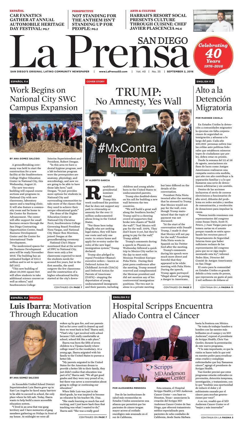 La Prensa SD - September 2, 2016 by La Prensa San Diego - issuu
