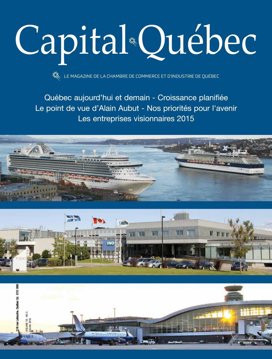 Capital qu bec f vrier mars 2016 by chambre de commerce - Chambre de commerce quebec floride ...