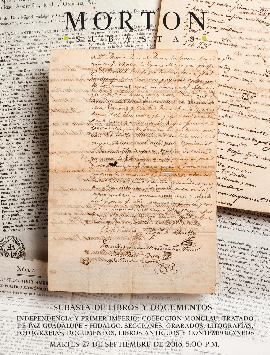c5ce90ba204b Subasta de Libros y Documentos by Morton Subastas - issuu
