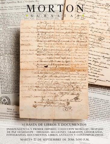 186e5c2f3b26 subasta de libros y documentos independencia y primer imperio  colección  monclau  tratado de paz guadalupe