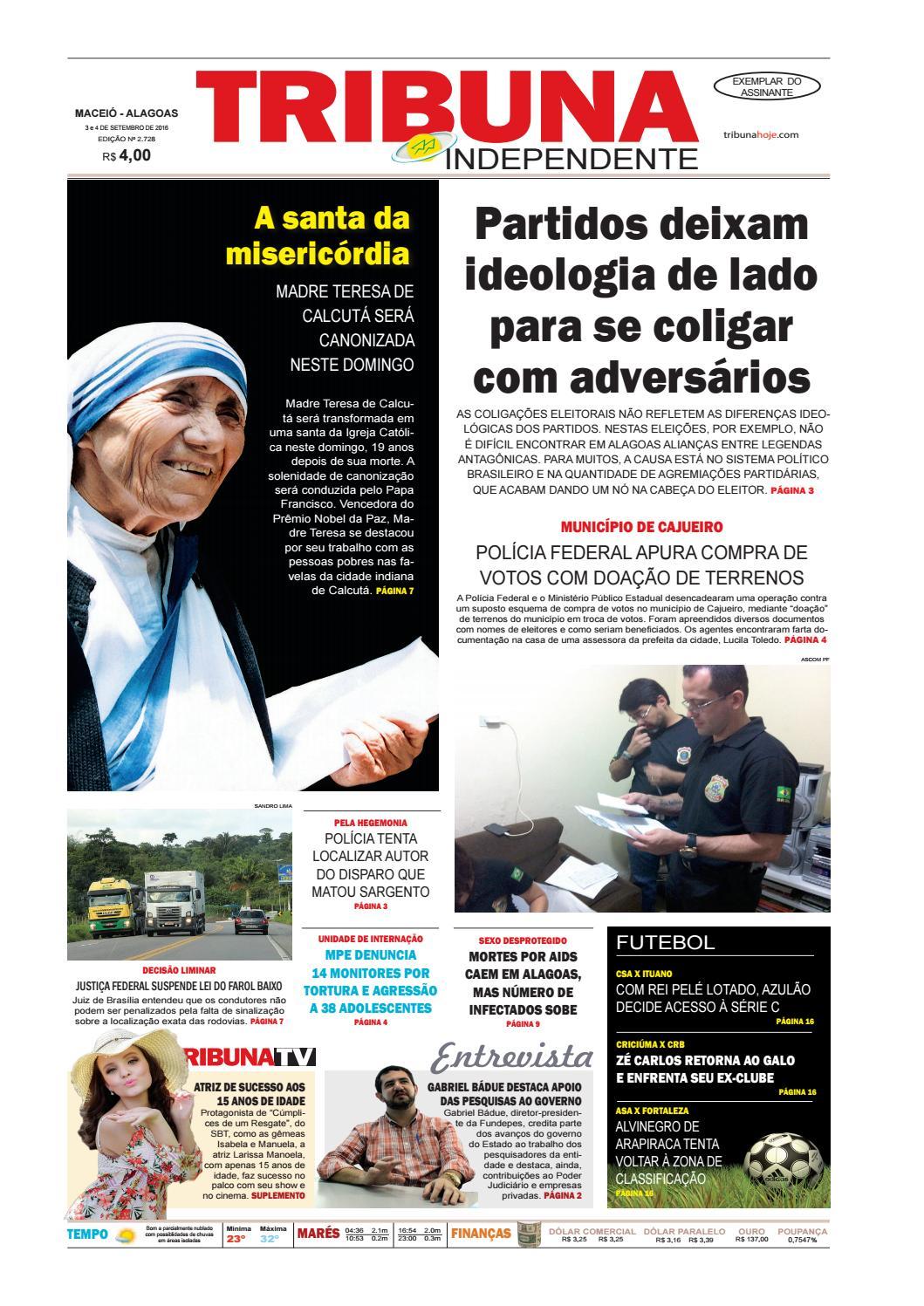 Edição número 2728 - 3 e 4 de setembro de 2016 by Tribuna Hoje - issuu 1c098d434b