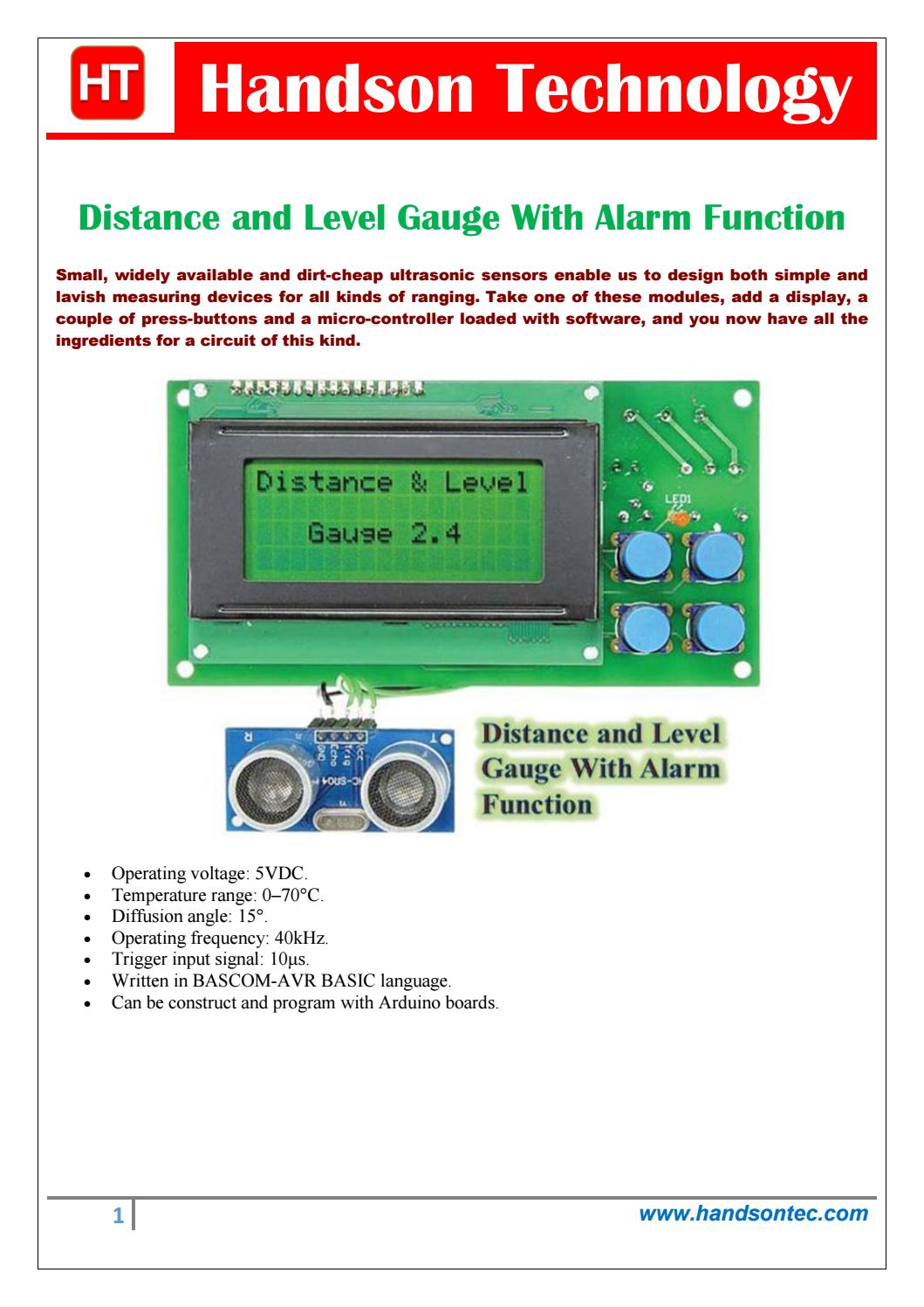 Ultrasonic Level Meter By Lee Yuan Issuu 40khz Transmitter Circuit