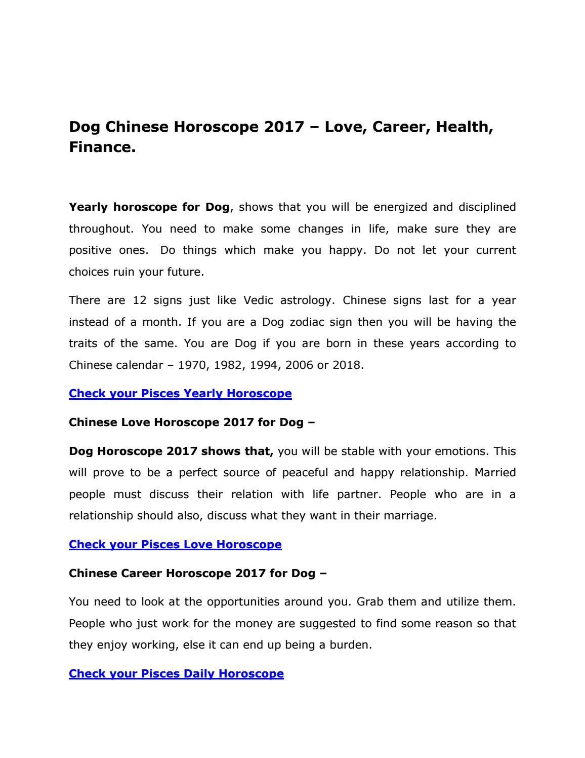 Dog chinese horoscope 2017 by AstroVidhi - issuu